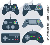 set of various gamepads ... | Shutterstock .eps vector #285468584