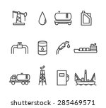 oil and petrol industry line... | Shutterstock .eps vector #285469571