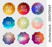 shopping and discount tags... | Shutterstock .eps vector #285470069