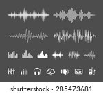 vector sound waveforms. sound... | Shutterstock .eps vector #285473681