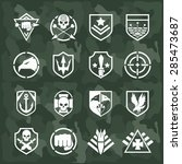 vector military symbol icons... | Shutterstock .eps vector #285473687