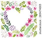 vector illustration of flowers... | Shutterstock .eps vector #285474005