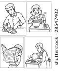 people | Shutterstock .eps vector #28547402