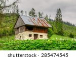 abandoned house. view of ruined ... | Shutterstock . vector #285474545