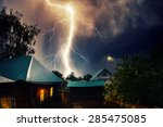 Thunderbolt Over The House Wit...