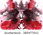 black and red watercolor... | Shutterstock .eps vector #285477011