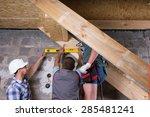 team of construction workers... | Shutterstock . vector #285481241