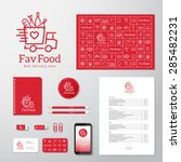 favorite food delivery abstract ... | Shutterstock .eps vector #285482231