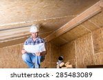 male construction worker... | Shutterstock . vector #285483089