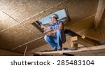 low angle view of male... | Shutterstock . vector #285483104