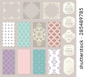 templates  cards  frames ...   Shutterstock .eps vector #285489785
