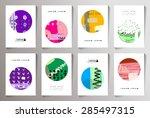 set of creative cards... | Shutterstock .eps vector #285497315