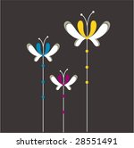 butterfly floral design | Shutterstock .eps vector #28551491