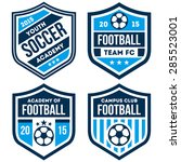 football badge set | Shutterstock .eps vector #285523001