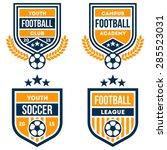 football badge set | Shutterstock .eps vector #285523031