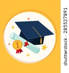 set illustration of graduation...   Shutterstock .eps vector #285527891