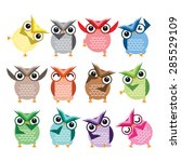 cute vector collection of... | Shutterstock .eps vector #285529109