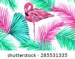 beautiful fashionable seamless... | Shutterstock .eps vector #285531335