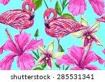 beautiful seamless vector... | Shutterstock .eps vector #285531341