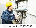 electrician builder engineer... | Shutterstock . vector #285535949