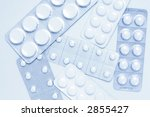 pills as background in blue tone | Shutterstock . vector #2855427