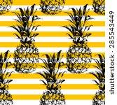 Hand Drawn Striped Pineapple...