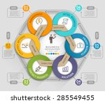 business timeline info graphic... | Shutterstock .eps vector #285549455
