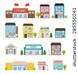 stores and shops buildings... | Shutterstock .eps vector #285550241