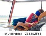 woman relaxing in  eye sleep...   Shutterstock . vector #285562565