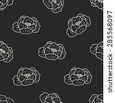 flower doodle seamless pattern... | Shutterstock .eps vector #285568097