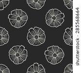 flower doodle seamless pattern...   Shutterstock .eps vector #285568664