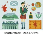all about scotland elements.... | Shutterstock .eps vector #285570491