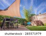 modern house terrace in summer... | Shutterstock . vector #285571979