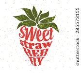 Vector Strawberry Label....