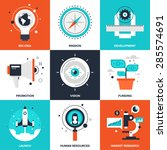 vector set of flat startup and... | Shutterstock .eps vector #285574691