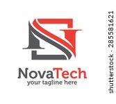 letter n logo template . letter ... | Shutterstock .eps vector #285581621