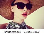 portrait of a beautiful sensual ... | Shutterstock . vector #285588569