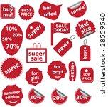 20 red shop stickers   vector... | Shutterstock .eps vector #28559540