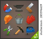 tools icon set 6 | Shutterstock .eps vector #285596639