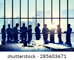 business people conference... | Shutterstock . vector #285603671