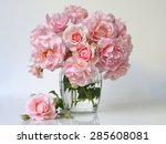 Bouquet Of Soft Pink Roses In A ...