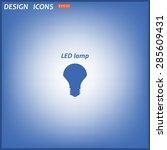 led lamp . icon. vector design | Shutterstock .eps vector #285609431