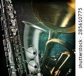 abstract green grunge vintage... | Shutterstock .eps vector #285610775
