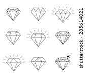 diamond  icons set  design | Shutterstock .eps vector #285614021