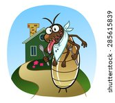 cartoon hungry termite wants to ... | Shutterstock .eps vector #285615839