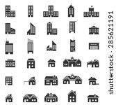 buildings icons vector eps10. | Shutterstock .eps vector #285621191