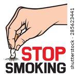 stop smoking concept   hand... | Shutterstock .eps vector #285623441