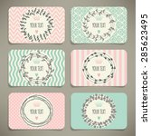 set of business cards or... | Shutterstock .eps vector #285623495