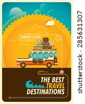 traveling illustration with... | Shutterstock .eps vector #285631307