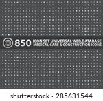850 icon set universal website... | Shutterstock .eps vector #285631544